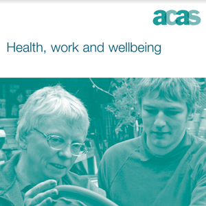 Cver of the 'ACAS Health & wellbeing' document
