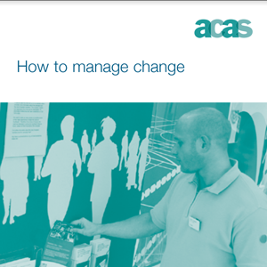 Cover of the 'ACAS - how to manage change' document